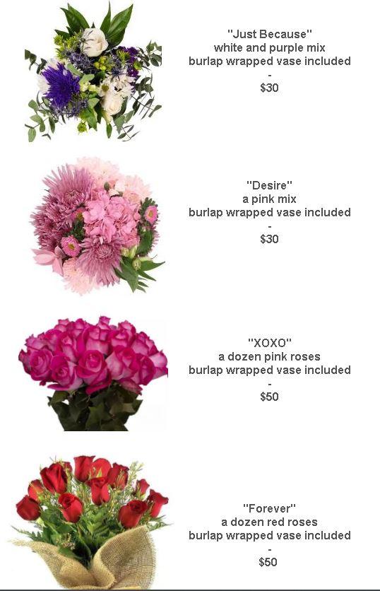 flower menu